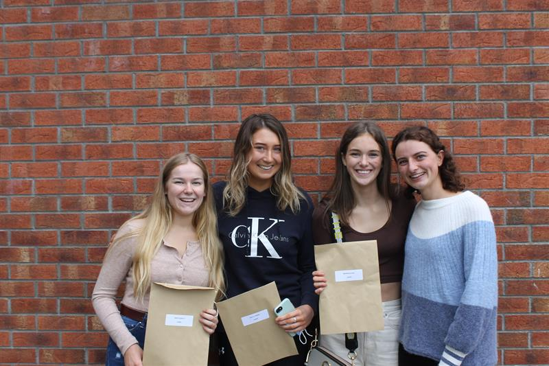 Pres girls delighted with their results - Grace Queally, Molly O'Brien, Bronwyn Egan & Lucy Mulcahy.JPG